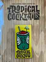 Tropical cocktails pin
