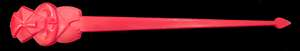 Oceanic arts new style tiki swizzle red front
